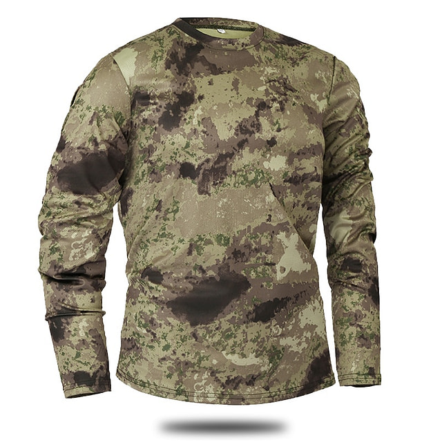 Men's Long Sleeve Camouflage Top